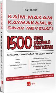 Kaim Makam Kaymakamlık Sınav Mevzuatı 1500 Soru Çözümlü Test Kitabı