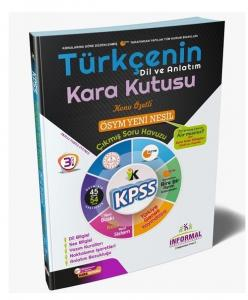 İnformal Yayınları 2020 KPSS Türkçenin Kara Kutusu Dil ve Anlatım 3. Cilt Çıkmış Sorular Konu Özetli Soru Bankası