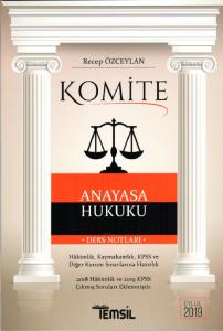 Komite Anayasa Hukuku Ders Notları  Temsil Kitap Yayınları