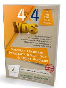 Pelikan 4x4 YDS Seti 2. Kitap Paragraf Tamamlama, Paragrafta İlgisiz Cümle ve Okuma Parçaları