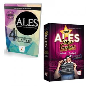 Pelikan ALES 4 Dörtlük Deneme + 657 Yayınevi ALES Sözel Sayısal Yetenek Konu Özetli Açıklamalı Soru Bankası 2019