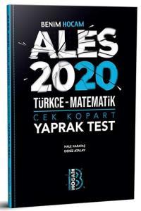 Benim Hocam Yayınları 2020 ALES Türkçe Matematik Çek Kopart Yaprak Test