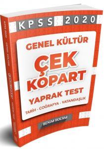 Benim Hocam Yayınları 2020 KPSS Genel Kültür Çek Kopart Yaprak Test
