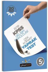 Beyaz Kalem KPSS Eğitim Bilimleri Gelişim Psikolojisi Çek Kopart Yaprak Test 2019