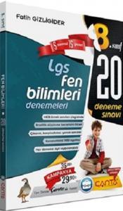 Çanta Yayınları 8. Sınıf LGS Fen Bilimleri 20 Deneme Sınavı