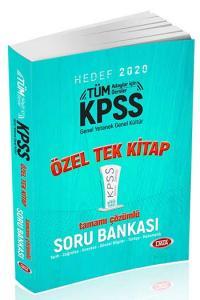 Data Yayınları 2020 KPSS Genel Yetenek Genel Kültür Tamamı Çözümlü Soru Bankası Özel Tek Kitap