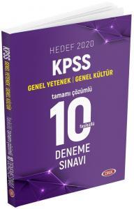 Data Yayınları 2020 KPSS Genel Yetenek Genel Kültür Tamamı Çözümlü 10 Deneme Sınavı