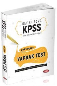 Data Yayınları 2020 KPSS Genel Yetenek Genel Kültür Çek Kopar Yaprak Test