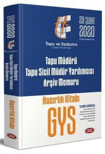 Data Yayınları 2020 GYS Tapu Müdürü - Tapu Sicil Müdür Yardımcısı - Arşiv Memuru GYS Hazırlık Kitabı