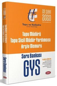 Data Yayınları 2020 GYS Tapu Müdürü - Tapu Sicil Müdür Yardımcısı - Arşiv Memuru GYS Soru Bankası