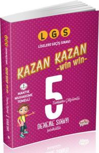 Editör LGS Kazan Kazan Tamamı Çözümlü 5 Deneme Sınavı Fasiküllü