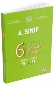 Editör Yayınları 4. Sınıf 6 Fasiküllü Deneme Sınavı