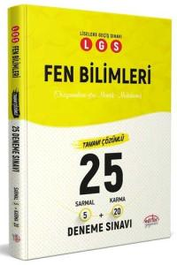 Editör Yayınları LGS Fen Bilimleri Tamamı Çözümlü 25 Deneme Sınavı
