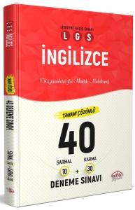 Editör Yayınları LGS İngilizce 40 Deneme Sınavı