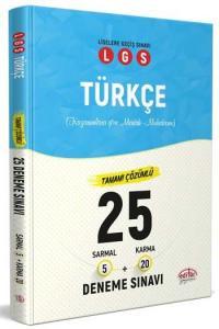 Editör Yayınları LGS Türkçe Tamamı Çözümlü 25 Deneme Sınavı