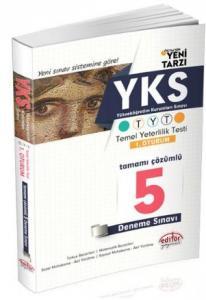 Editör YKS 1. Oturum TYT Tamamı Çözümlü 5 Deneme Sınavı