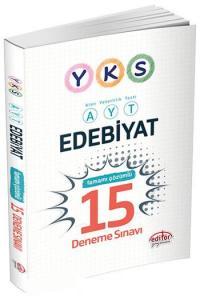 Editör YKS AYT Edebiyat Tamamı Çözümlü 15 Deneme Sınavı