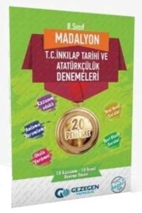 Gezegen Yayıncılık 8. Sınıf T.C. İnkılap Tarihi ve Atatürkçülük Madalyon Denemeleri