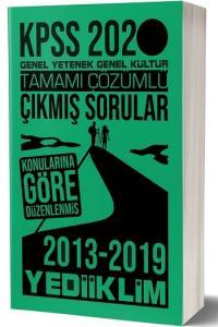 Yediiklim Yayınları 2020 KPSS Genel Yetenek Genel Kültür Konularına Göre Çözümlü Çıkmış Sorular