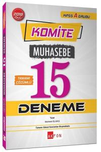 Akfon Yayınları Komite KPSS A Muhasebe Tamamı Çözümlü 15 Deneme