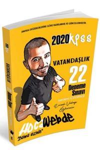 HocaWebde Yayınları 2020 KPSS Vatandaşlık Tamamı Çözümlü 22 Deneme Sınavı