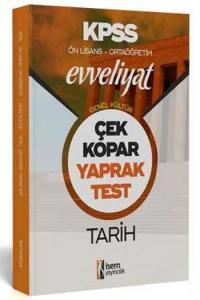 İsem Yayıncılık 2020 KPSS Evveliyat Ön Lisans Ortaöğretim Tarih Çek Kopar Yaprak Test