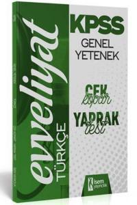 İsem Yayıncılık 2020 KPSS Evveliyat Türkçe Çek Kopar Yaprak Test