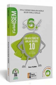İsem Yayınları 6. Sınıf Din Kültürü ve Ahlak Bilgisi Farklı İsem Tamamı Çözümlü 10 Fasikül Deneme