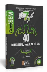 İsem Yayınları 7. Sınıf Din Kültürü ve Ahlak Bilgisi Farklı İsem Tamamı Çözümlü 40 Fasikül Deneme