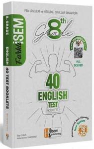 İsem Yayınları 8. Sınıf LGS İngilizce Farklı İsem 40 lı Sarmal Deneme