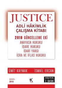 Kuram JUSTICE Adli Hakimlik Çalışma Kitabı 2018 Güncelleme Eki