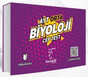 Karekök Yayınları AYT Biyoloji Orta Cep Test