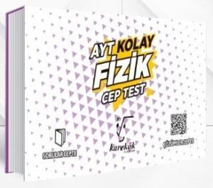 Karekök Yayınları AYT Fizik Kolay Cep Test