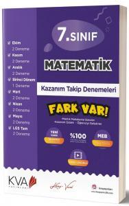 KVA Yayınları 7. Sınıf Matematik Fark Var Kazanım Takip Denemeleri