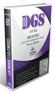 İntibak Yayınları 2020 DGS 10 Deneme Çözümlü
