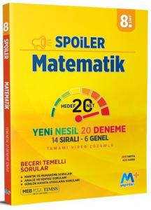 Martı Yayınları 8. Sınıf LGS Matematik Spoiler Denemeleri