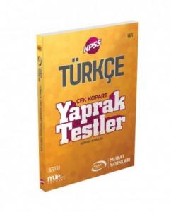 Murat Eğitim KPSS Türkçe Çek Kopart Yaprak Testler 2018 - 1071