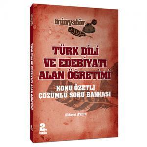 Yönerge Minyatür Türk Dili ve Edebiyatı Alan Öğretimi Konu Özetli Tamamı Çözümlü Soru Bankası