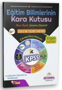 İnformal Yayınları 2020 KPSS Eğitim Bilimlerinin Kara Kutusu Öğretim Yöntem Teknikleri Çıkmış Sorular Soru Bankası Çözümlü