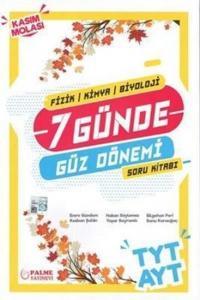 Palme Yayınları TYT AYT 7 Günde Güz Dönemi Soru Kitabı