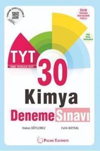 Palme Yayınları TYT Kimya 30 Deneme Sınavı