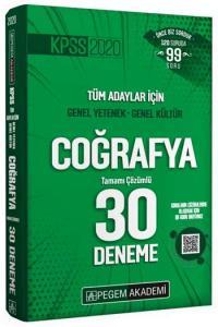 Pegem Yayınları 2020 KPSS Coğrafya Tamamı Çözümlü 30 Deneme