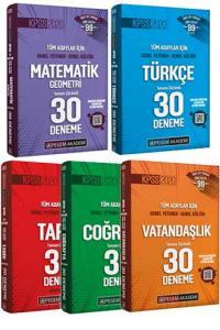 Pegem Yayınları 5 li Set 2020 KPSS GY GK Tamamı Çözümlü 30 Deneme Seti