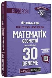 Pegem Yayınları 2020 KPSS Matematik Geometri Tamamı Çözümlü 30 Deneme