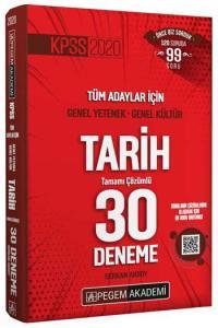 Pegem Yayınları 2020 KPSS Tarih Tamamı Çözümlü 30 Deneme