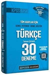 Pegem Yayınları 2020 KPSS Türkçe Tamamı Çözümlü 30 Deneme