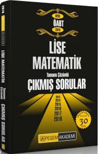 Pegem Yayınları 2019 ÖABT Lise Matematik Tamamı Çözümlü Çıkmış Sorular