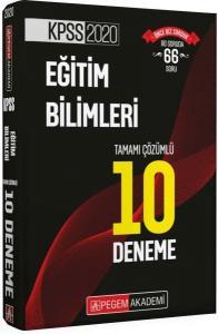 Pegem Yayınları 2020 KPSS Eğitim Bilimleri Tamamı Çözümlü 10 Deneme