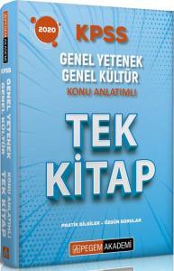 Pegem Yayınları 2020 KPSS Genel Yetenek Genel Kültür Tek Kitap Konu Anlatımlı