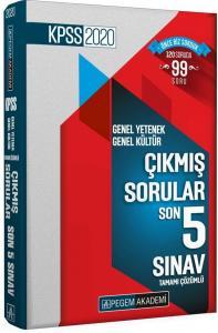 Pegem Yayınları 2020 KPSS Genel Yetenek Genel Kültür Tamamı Çözümlü Son 5 Sınav Çıkmış Sorular